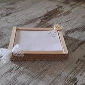 Guest Book matrimonio in legno e pizzo