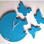 Orologio da parete con farfalle in feltro