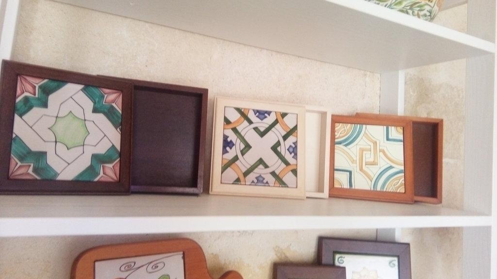 Scatole legno e ceramica