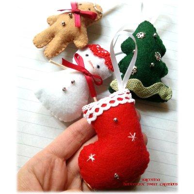 Decorazione da appendere all'albero di Natale- calza Epifania pannolenci
