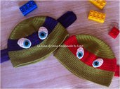 Cappellino uncinetto per Bambino ispirato alle Tartarughe Ninja in cotone