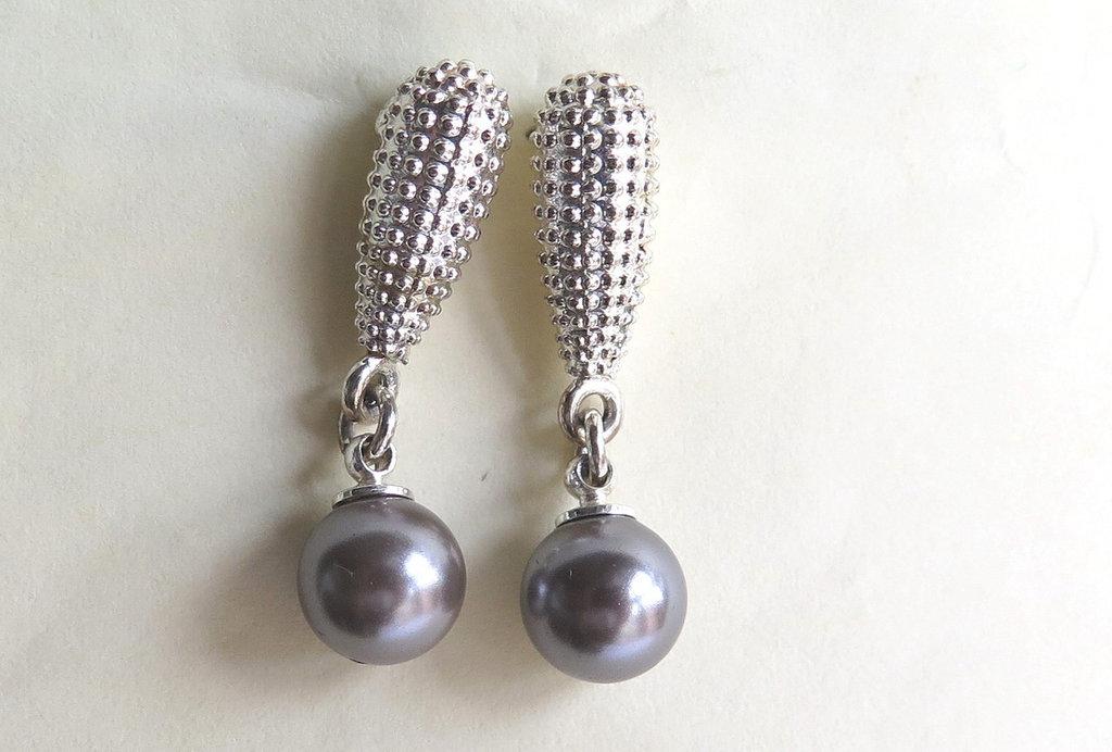 Orecchini silver con pendente     art 8