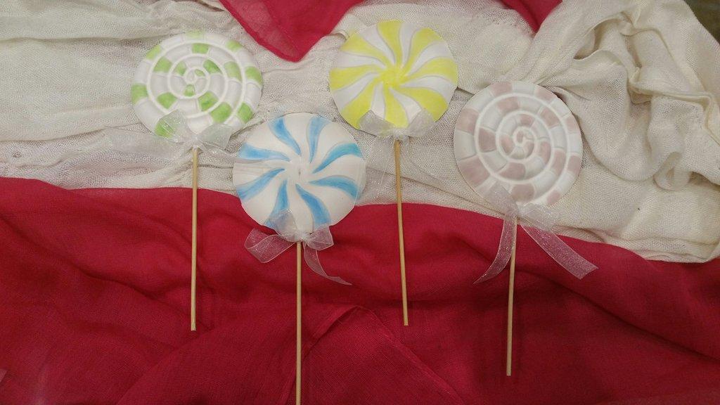 Gessetti colorati a forma di Lecca-lecca