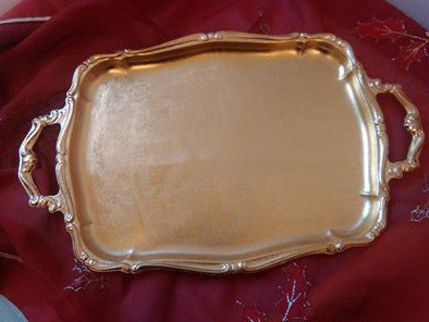 vassoio oro decorato a mano