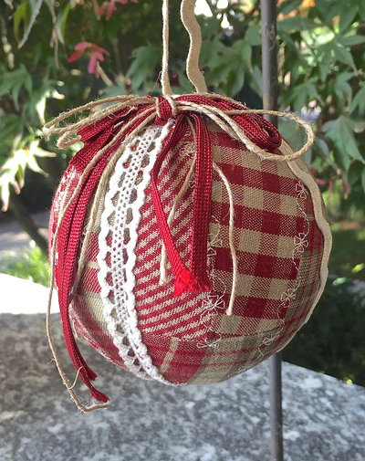 Natale - pallina di Natale country patchwork