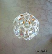Pallina natalizia in vetro soffiato e pizzo chiacchierino PV5B9C