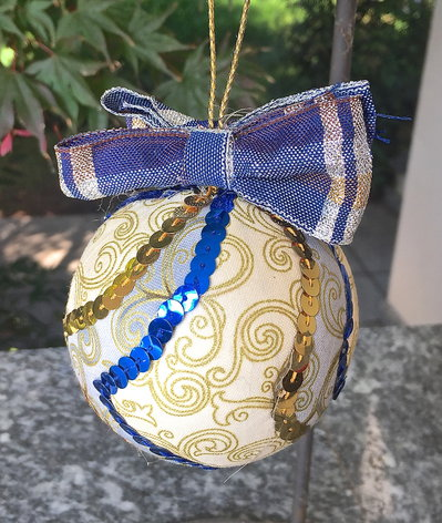 Natale - pallina di Natale patchwork