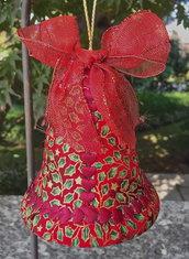 Natale -  campanella - pallina di Natale patchwork