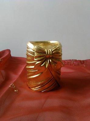 porta penne oro