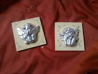 quadretti angeli argento