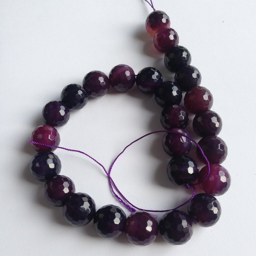 Agata viola sfaccettata (10pz)