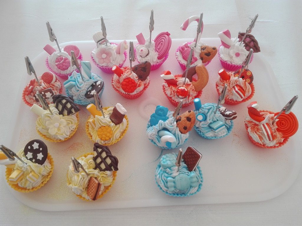 Portafoto o segnaposto cupcakes