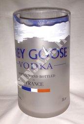 Vaso da bottiglia vuota Grey Goose Jeroboam 3 Litri riciclo creativo arredo design idea regalo