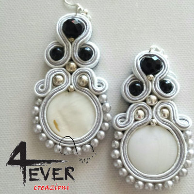"Orecchini soutache ""Ice"""