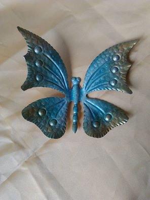 farfalla decorata a mano