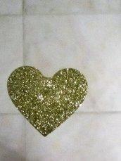 cuore glitter oro