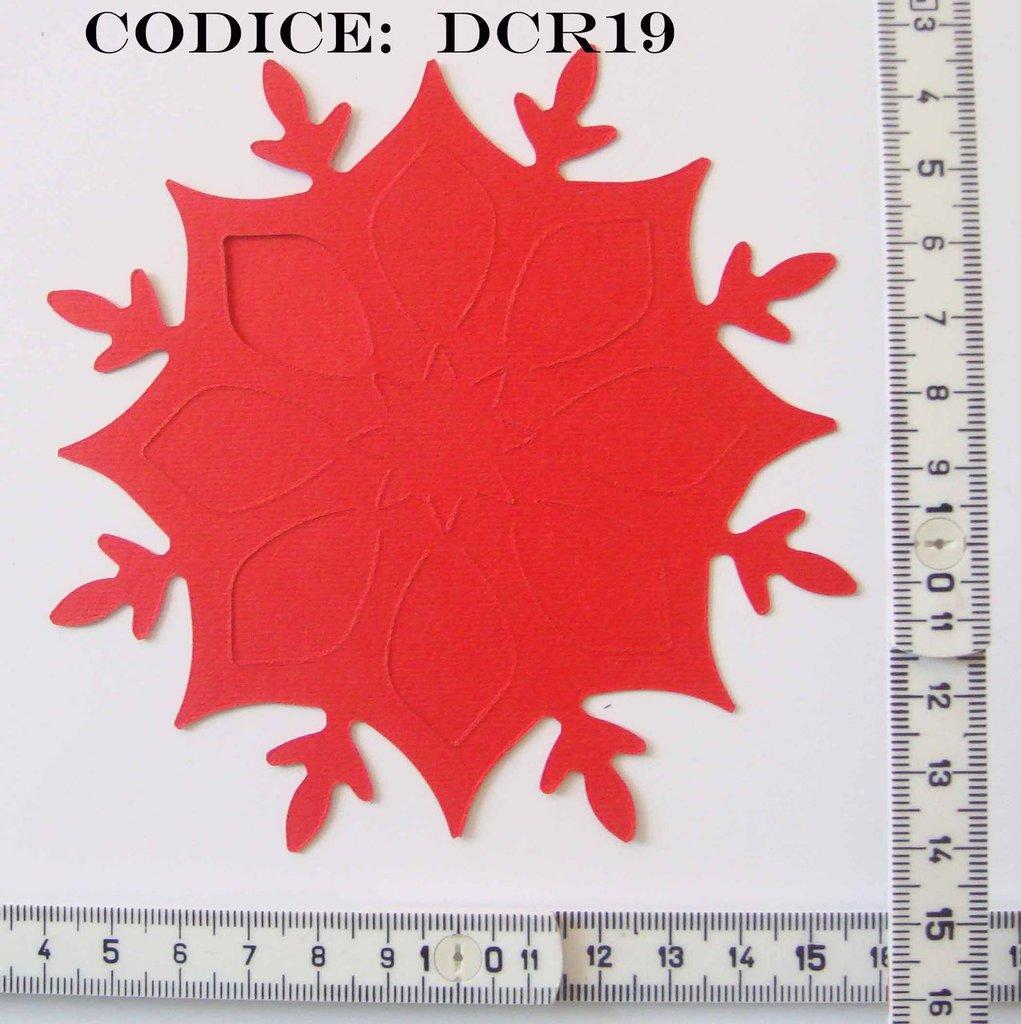 Fustellato Feltro Fiocco di Neve DCR19