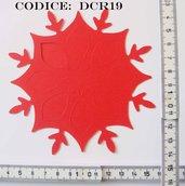 Fustellato Pannolenci Fiocco di Neve DCR19P