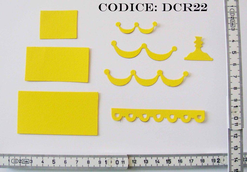 Fustellato Feltro Torta DCR22