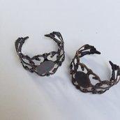 2 basi anello in filigrana