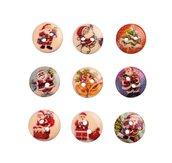 NATALE CREATIVO 10 bottoni in legno stampati a tema Natale