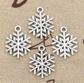 NATALE CREATIVO ciondolo fiocco di neve color argento