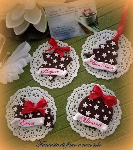 Segnaposti e addobbi natalizi feste natale di - Addobbi natalizi per tavola da pranzo ...