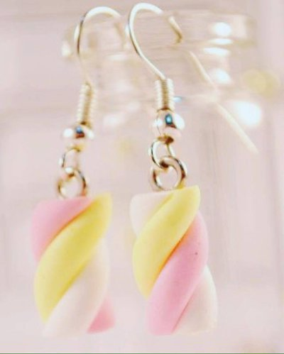 orecchini pendenti marshmallow