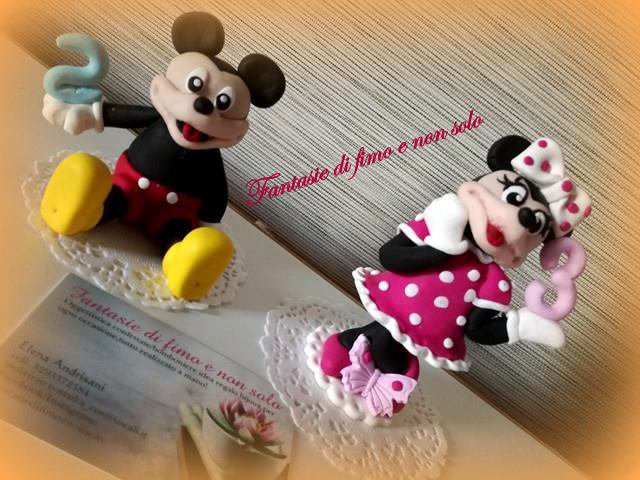 topper cake Topolino e Minnie