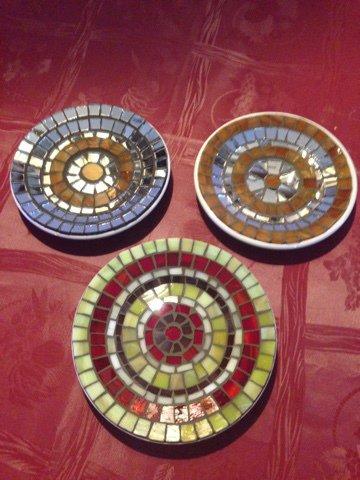 Piattini in mosaico