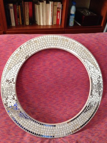 Specchiera in MOSAICO (L'Atelier del Mosaico) ROTONDO diametro cm. 60