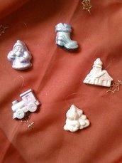 addobbi natalizi in polvere di ceramica