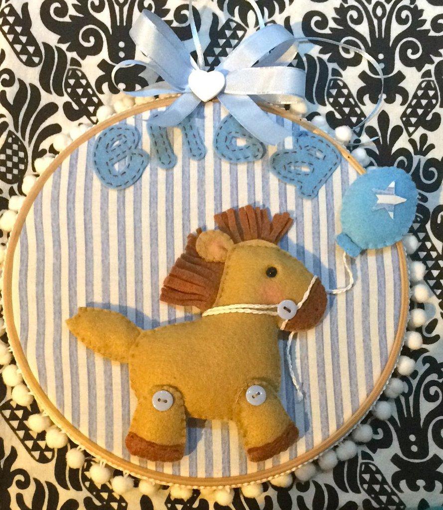 Fiocco nascita dolce cavallino