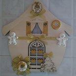 Casa in legno natale idea regalo con gessetti in ceramica