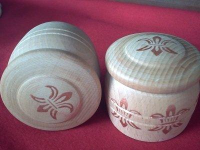 portaoggetti in legno