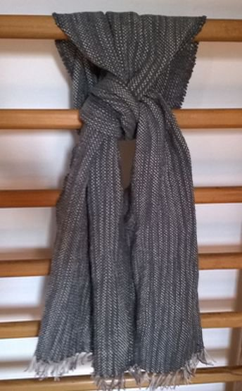 sciarpa ordito cotone trama lana