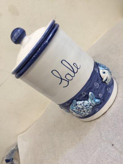 Porta sale in ceramica