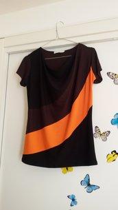T-shirt drappeggiata tre colori