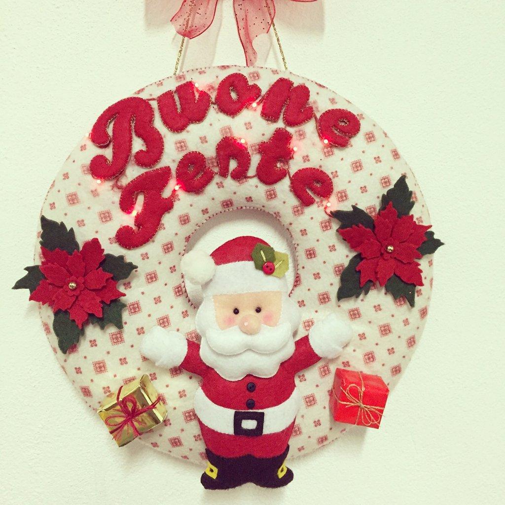 Ghirlanda Babbo Natale