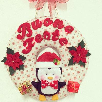 Ghirlanda Pinguino natalizio