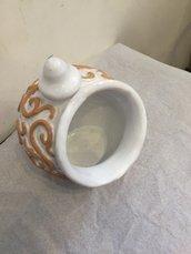 Contenitore/porta sale in ceramica