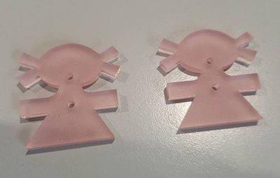 bottoni 'baby' rosa - confezione da 12 pezzi