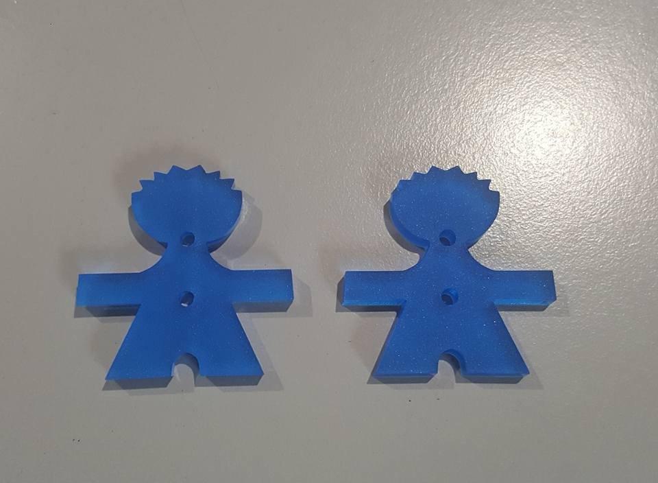 bottoni decorativi BABY AZZURRO