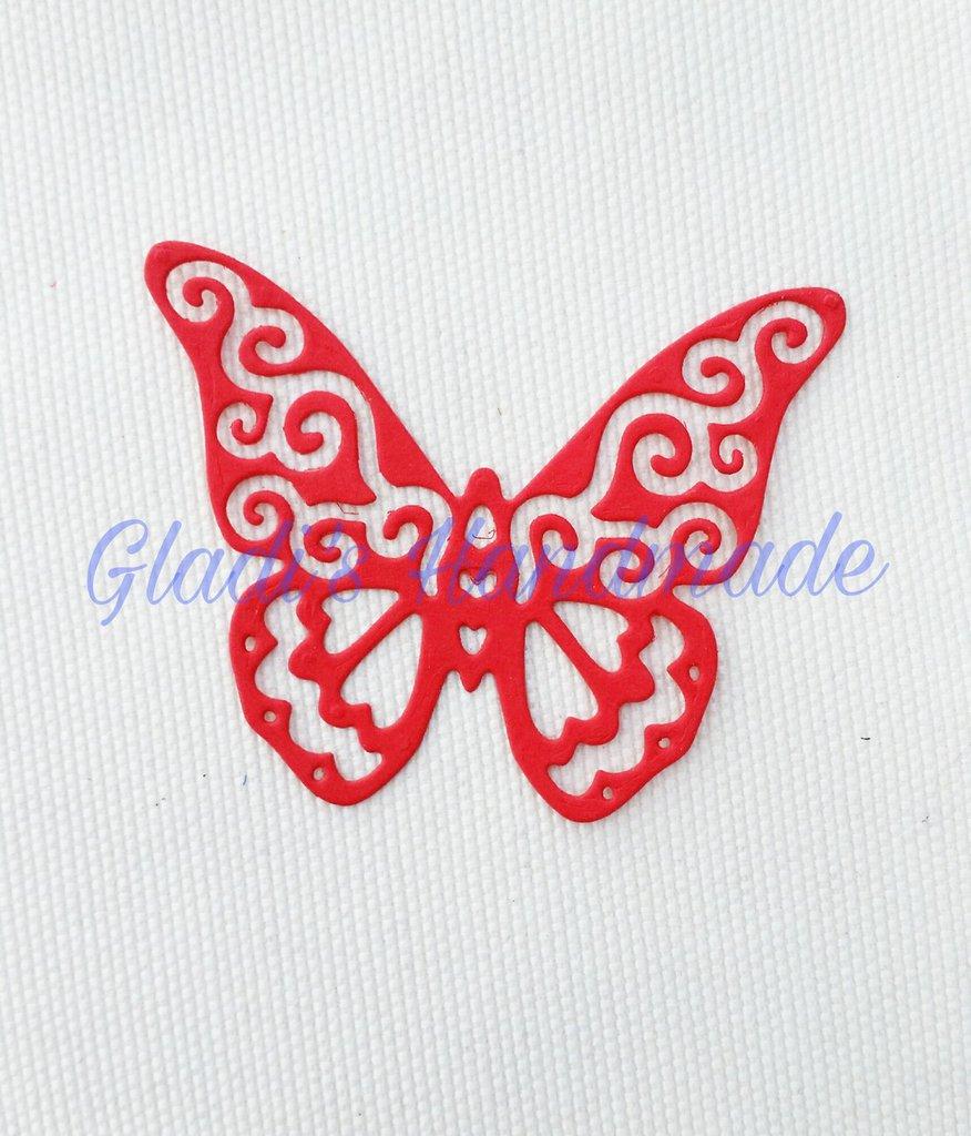 80 farfalle intagliate grandi dimensioni