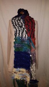 sciarpa fettuccia a righe colorate
