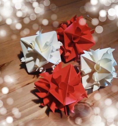 3 Stelle di Natale, decorazione natalizia, palla di natale, albero di natale