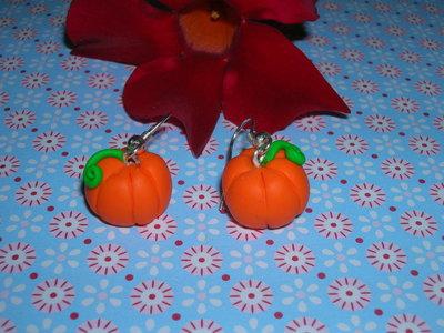 orecchini con zucche