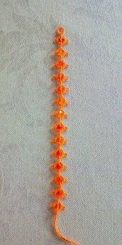 Braccialetto in pizzo chiacchierino Bright Orange con Swaroski BS1BOC