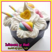 Cute and unique sweet JEWEL CASE polimer clay kawaii handmade