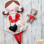 n. 1 bimbalotte invernale colore rosso
